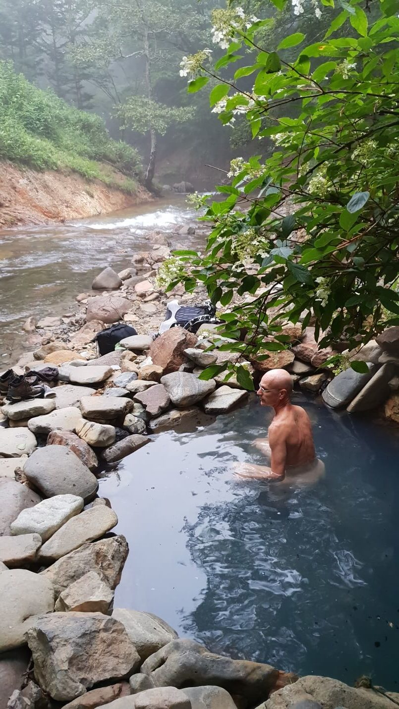 One of many riverside hot pools in the Shikaribetsu Gorge area.