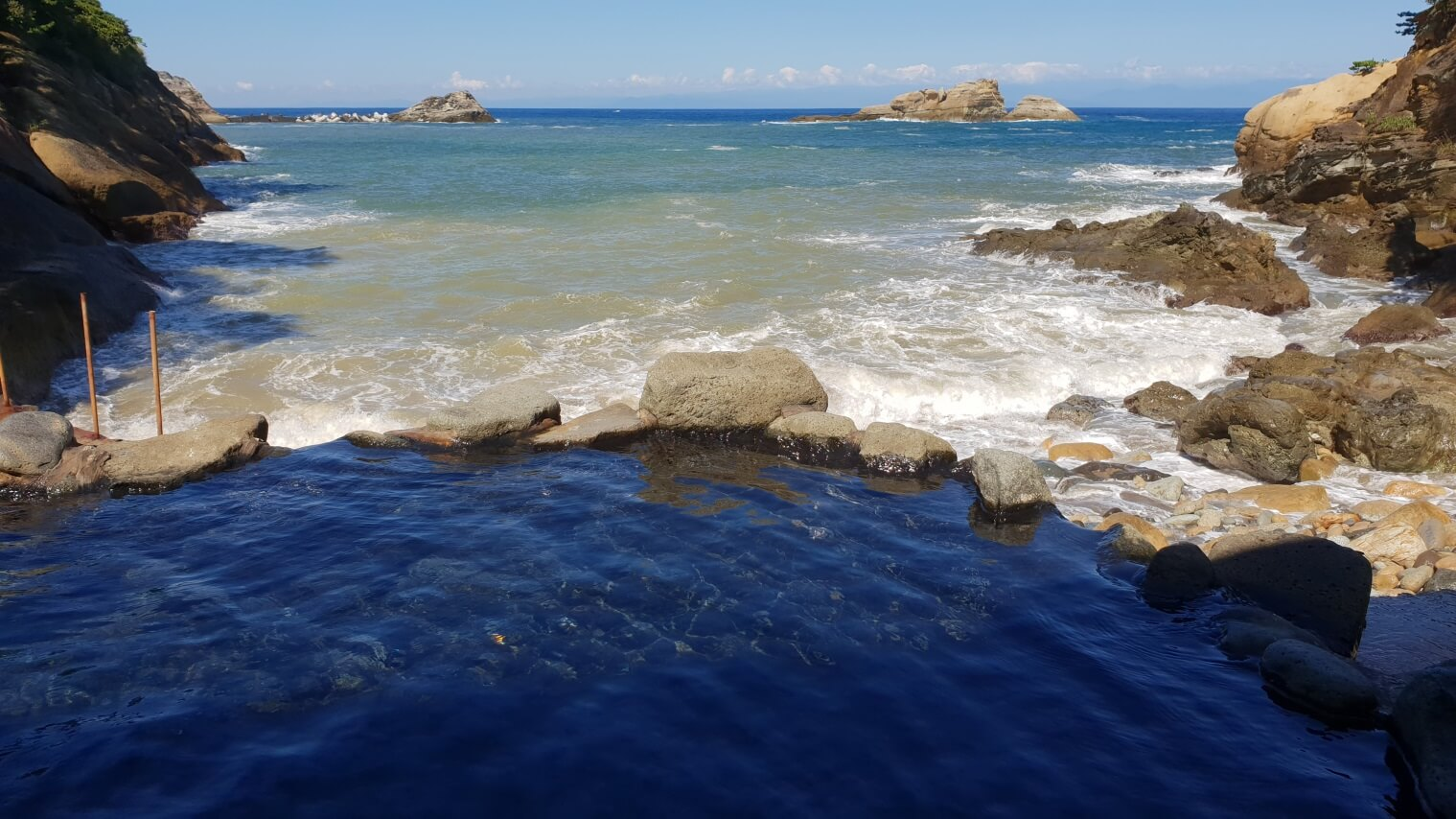 One of several free coastal hot pools scattered along the Izu Peninsula.